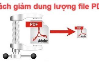 giảm dung lượng pdf
