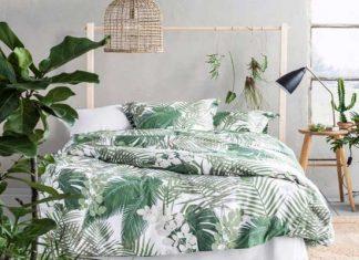 trang trí phòng ngủ màu xanh lá cây