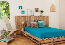 trang trí phòng ngủ bằng gỗ pallet